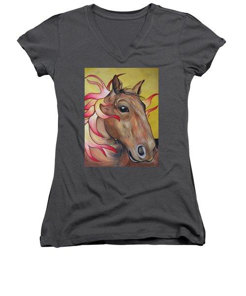 Fire Horse Women's V-Neck (Athletic Fit)