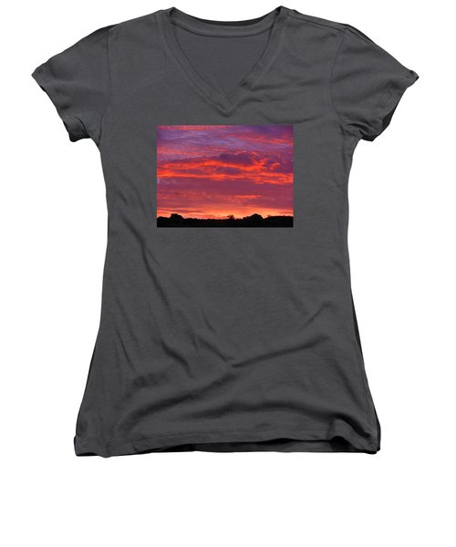 Fire In The Arizona Sky Women's V-Neck (Athletic Fit)