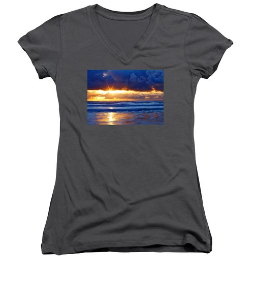Fire On The Horizon Women's V-Neck