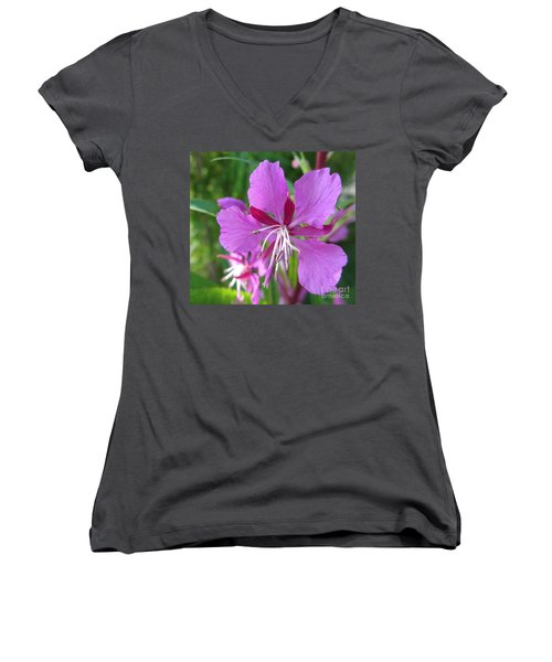 Fireweed 1 Women's V-Neck T-Shirt