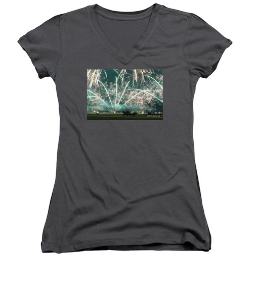 Fireworks And Aircraft Women's V-Neck