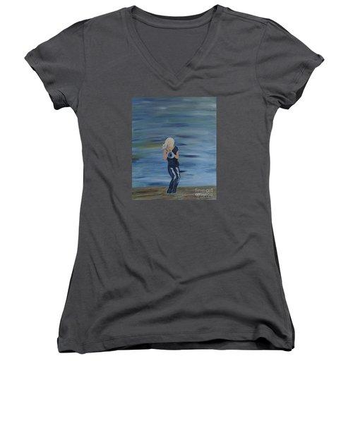 Firmly Grounded - Cindy Bradley Women's V-Neck T-Shirt