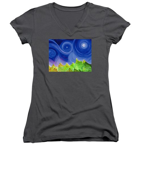 First Star By  Jrr Women's V-Neck T-Shirt (Junior Cut) by First Star Art