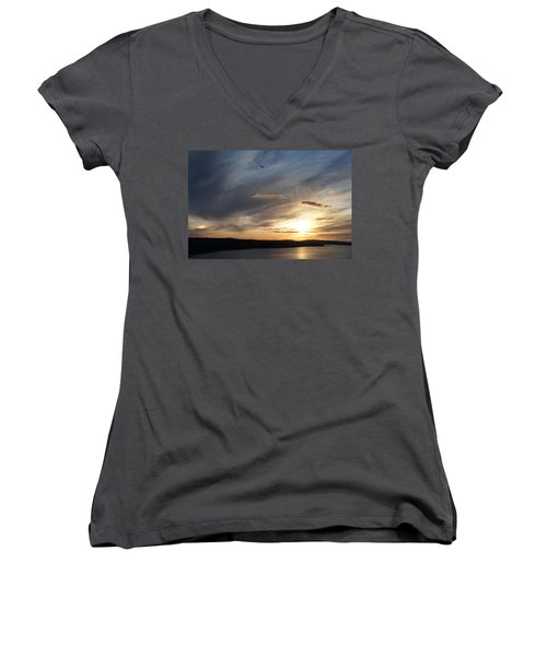 Firth Of Forth In The Sunset Women's V-Neck