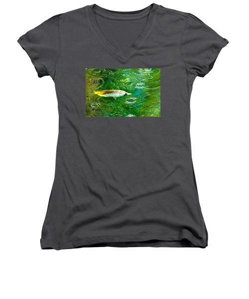 Fish In The Rain Women's V-Neck (Athletic Fit)