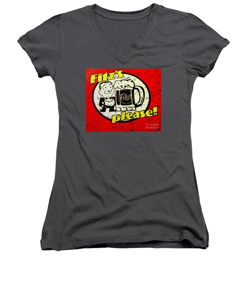 Fitz's Please All Wet Women's V-Neck (Athletic Fit)