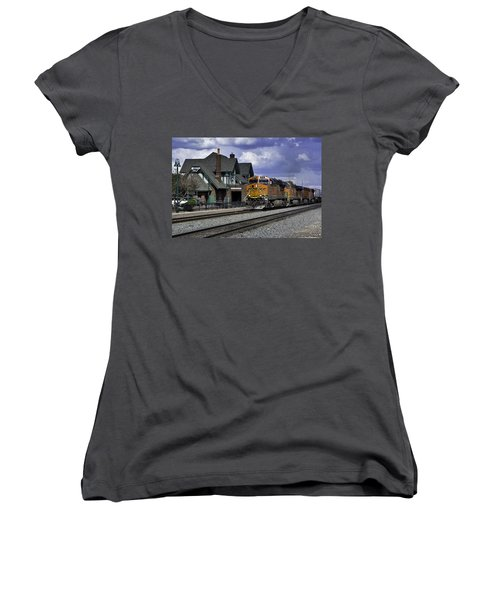 Flagstaff Station Women's V-Neck (Athletic Fit)