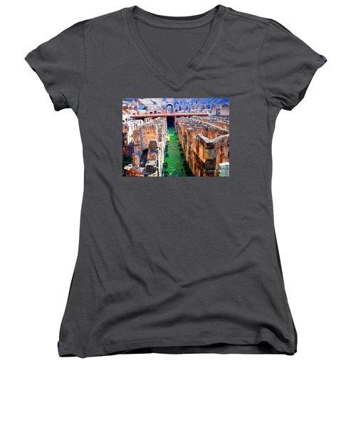 Flavian Amphitheatre Women's V-Neck T-Shirt