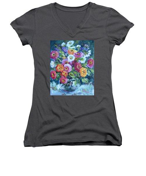 Floral Explosion No. 2 Women's V-Neck