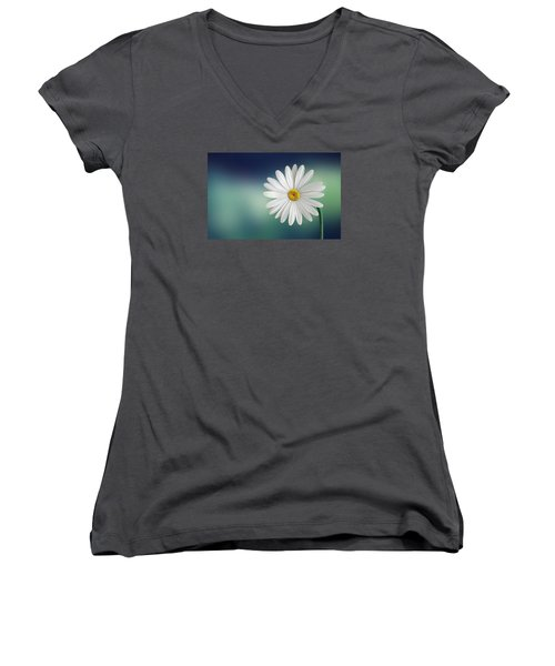Flower Women's V-Neck T-Shirt (Junior Cut) by Bess Hamiti