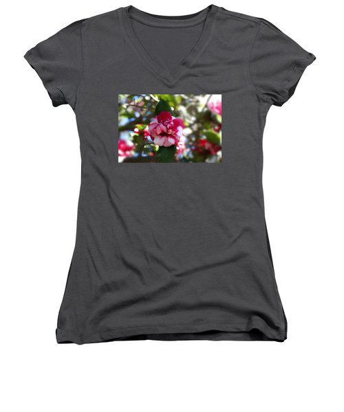 Flower Women's V-Neck T-Shirt (Junior Cut) by Bill Howard