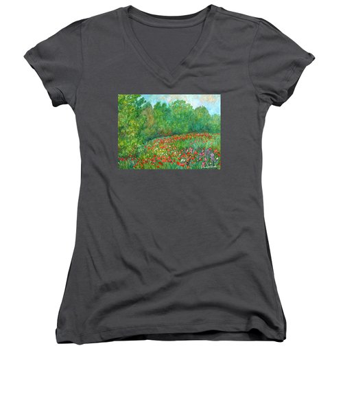 Flower Field Women's V-Neck