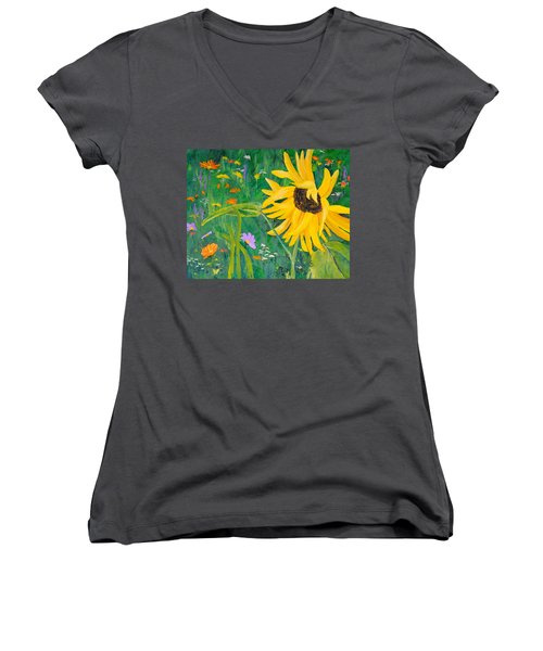 Flower Fun Women's V-Neck (Athletic Fit)