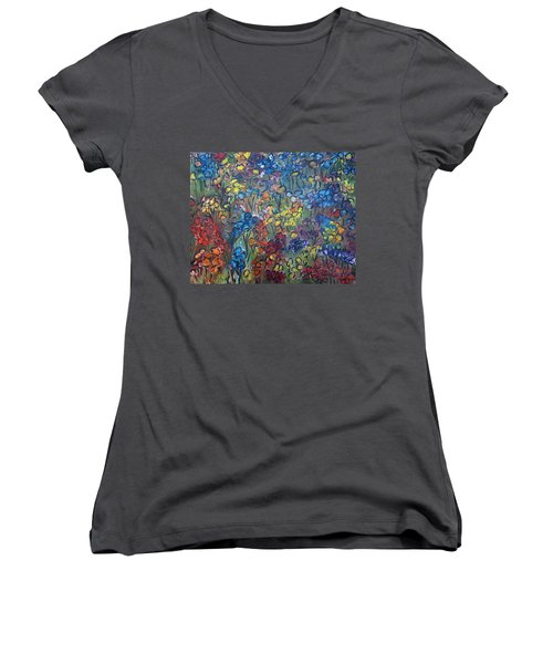 Flower Garden Women's V-Neck T-Shirt