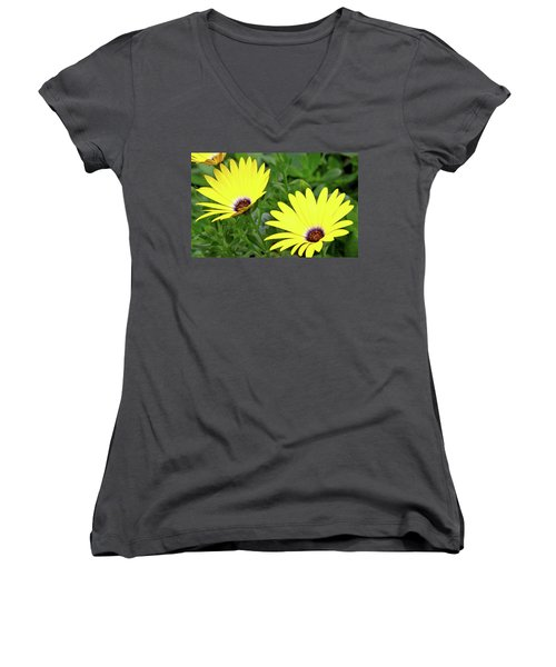 Flower Power Women's V-Neck T-Shirt (Junior Cut) by Ed  Riche