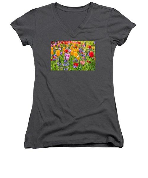 Flowers Everywhere Women's V-Neck