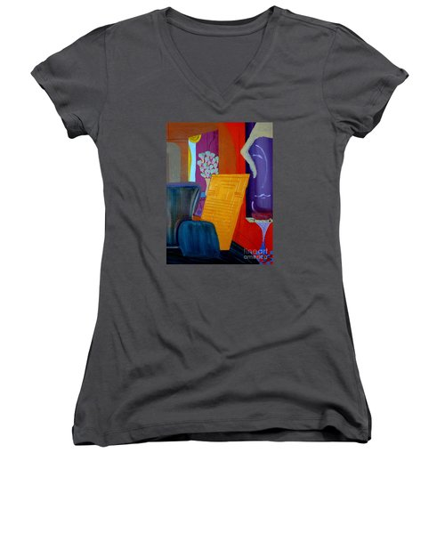 Flowers For Matisse Women's V-Neck T-Shirt (Junior Cut) by Bill OConnor