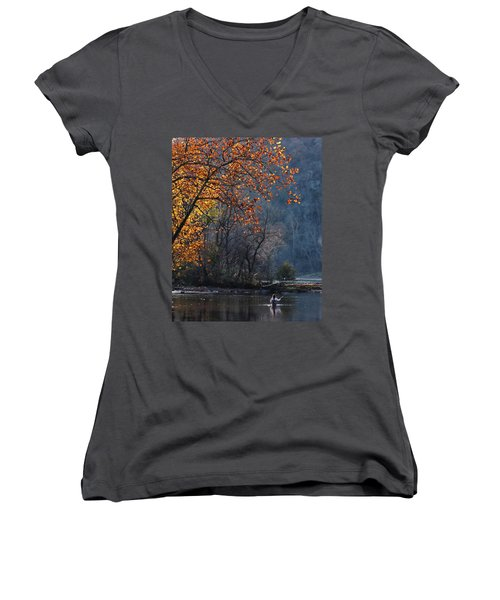 Fly Fisherwoman Women's V-Neck (Athletic Fit)