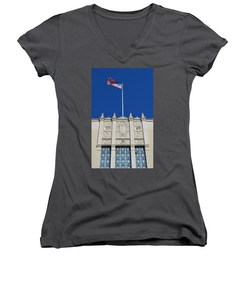 Flying High  Women's V-Neck T-Shirt (Junior Cut) by Shawn Marlow
