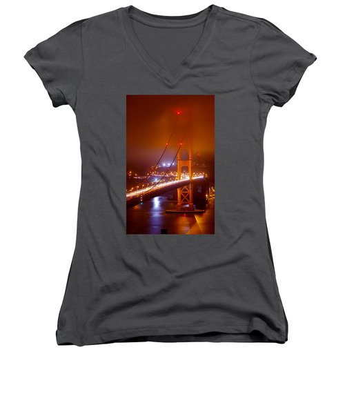 Foggy Golden Gate Women's V-Neck