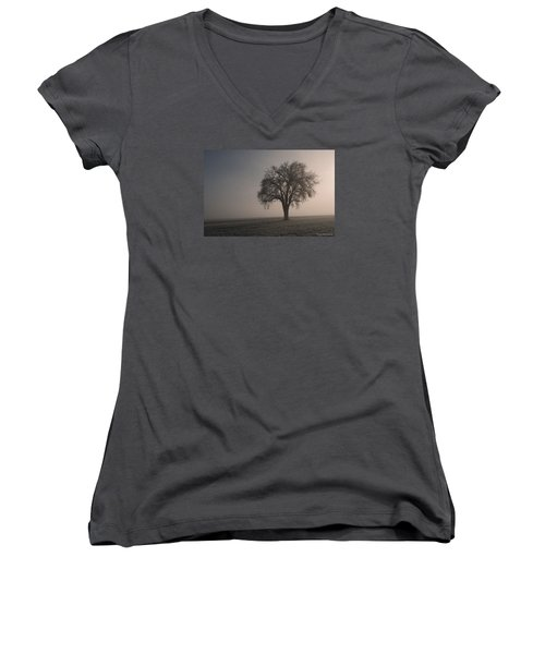 Foggy Morning Sunshine Women's V-Neck