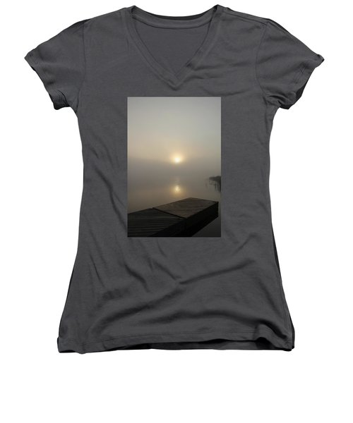 Foggy Reflections Women's V-Neck (Athletic Fit)