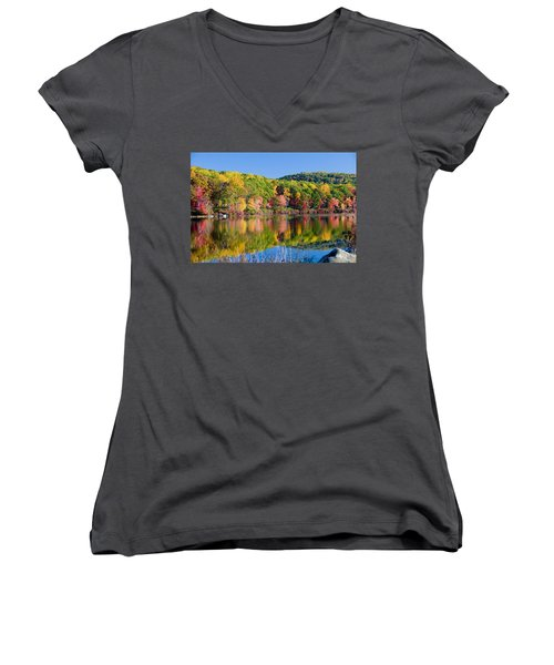 Foilage In The Fall Women's V-Neck
