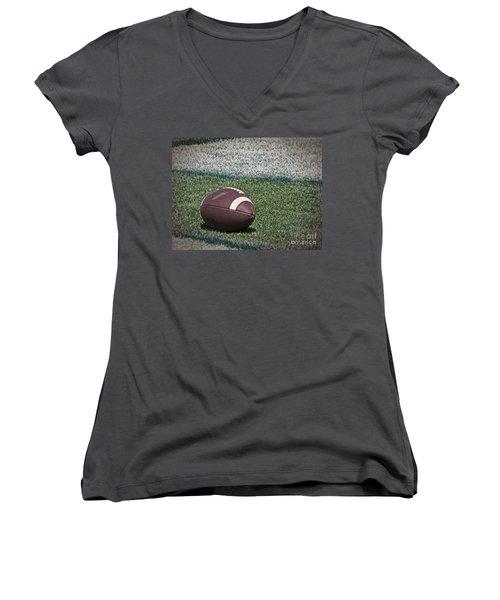 An American Football Women's V-Neck T-Shirt