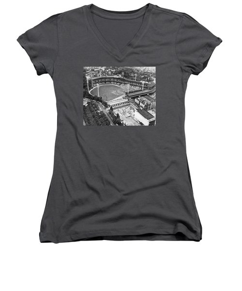 Forbes Field In Pittsburgh Women's V-Neck