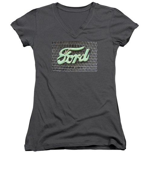 Ford Grille Women's V-Neck T-Shirt