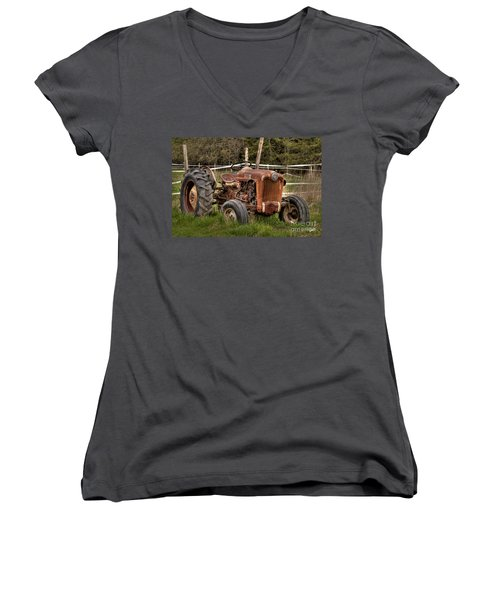 Ford Tractor Women's V-Neck (Athletic Fit)