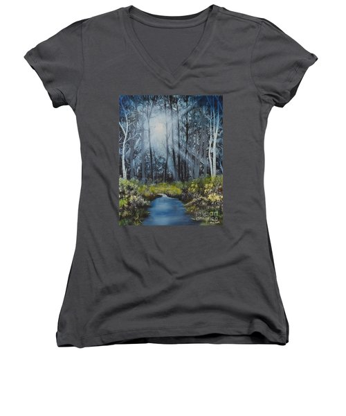 Forest Light Women's V-Neck