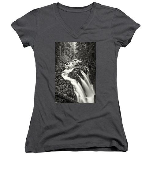 Forest Water Flow Women's V-Neck (Athletic Fit)