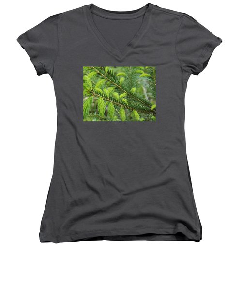 Forever Lime Green Women's V-Neck (Athletic Fit)
