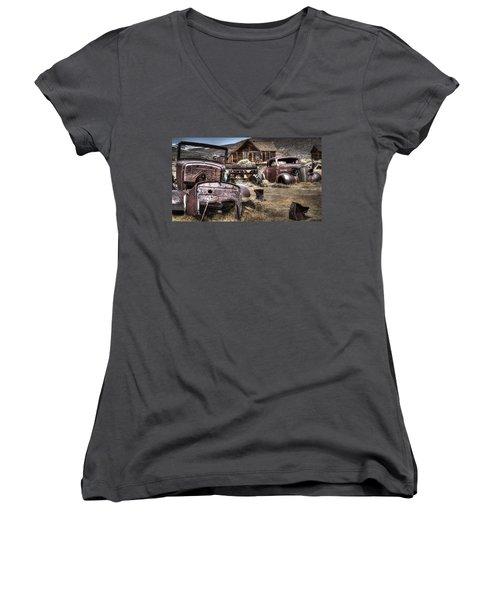 Forgoten Women's V-Neck T-Shirt (Junior Cut) by Eduard Moldoveanu