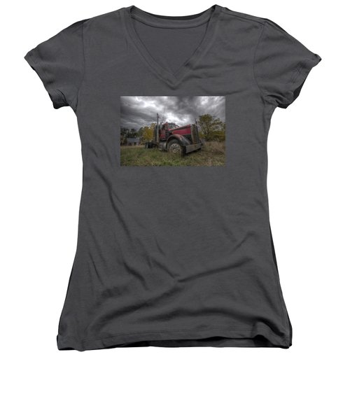 Forgotten Big Rig 2014 V2 Women's V-Neck T-Shirt