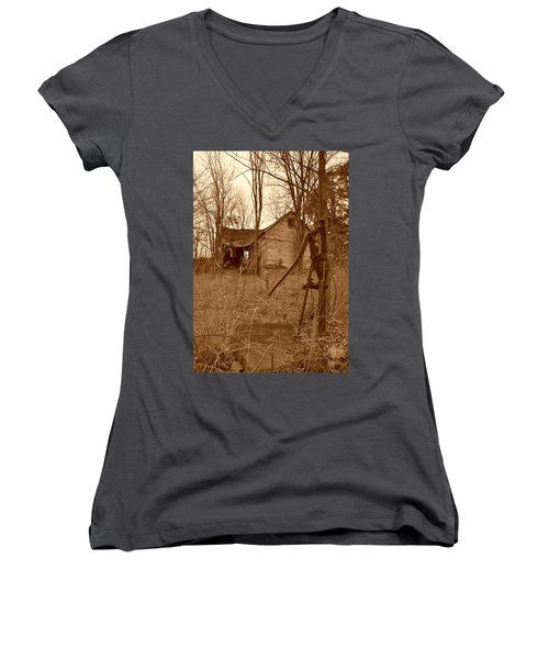 Forgotten Farmhouse Women's V-Neck (Athletic Fit)