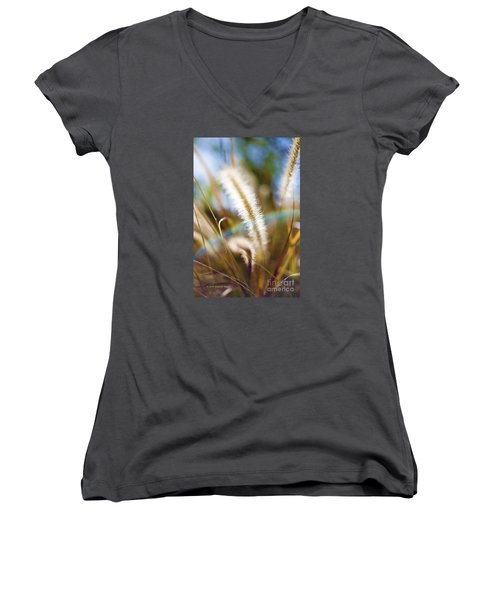 Fountain Grass Women's V-Neck (Athletic Fit)