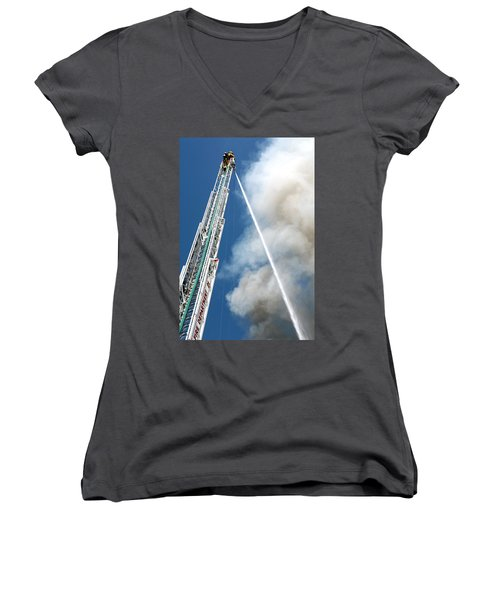 Four Alarm Blaze 001 Women's V-Neck T-Shirt