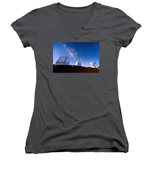 Four Lasers Attacking The Galactic Center Women's V-Neck (Athletic Fit)