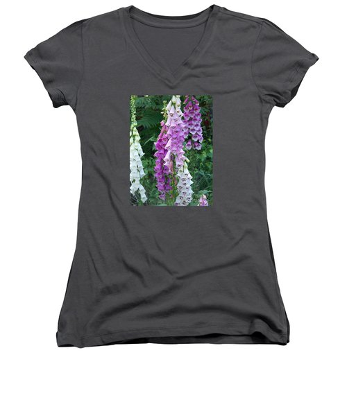 Foxglove After The Rains Women's V-Neck T-Shirt