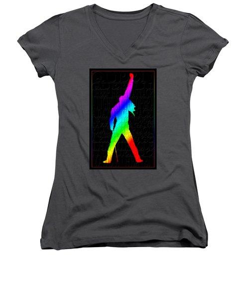 Freddie Mercury 2 Women's V-Neck