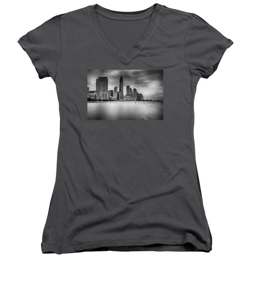 Freedom In The Skyline Women's V-Neck