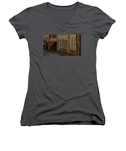 French Laneway Women's V-Neck (Athletic Fit)