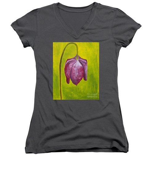 Fritillary Flower Women's V-Neck T-Shirt