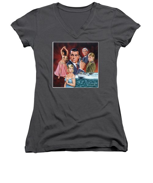 From Russia With Love Women's V-Neck T-Shirt (Junior Cut)