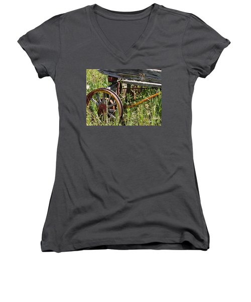 From Rust To Grass Women's V-Neck (Athletic Fit)