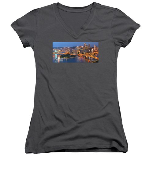 From The Fountain To Ft. Pitt Women's V-Neck