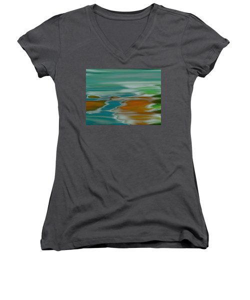 From The River To The Sea Women's V-Neck (Athletic Fit)