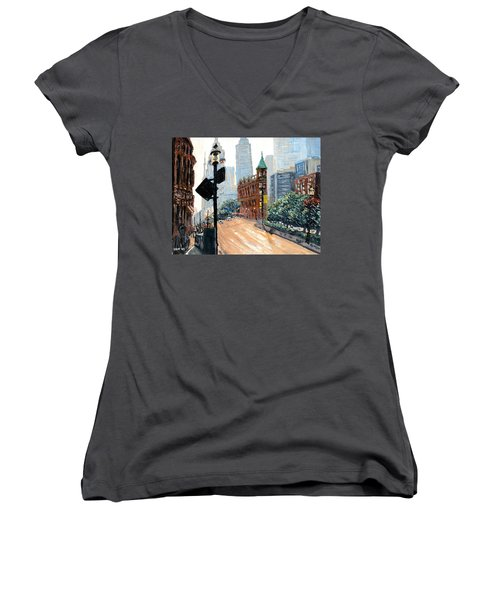 Front And Church Women's V-Neck T-Shirt